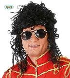 Fiestas Guirca Largo Rizado Peluca Michael Jackson Rey del Pop