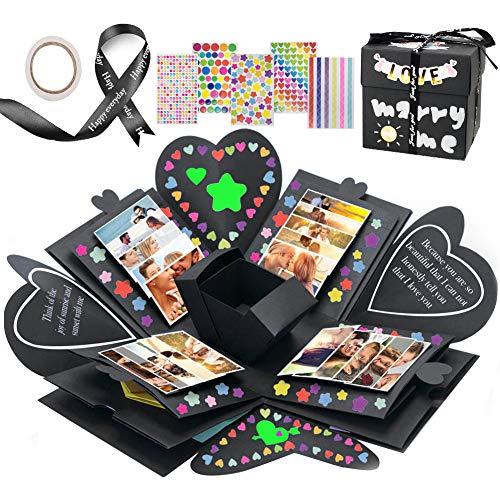 JTENG Kreative Überraschung Box, Explosionsbox DIY Faltendes Fotoalbum zum Selbstgestalten Scrapbook, Hochzeit Geburtstag Jahrestag Valentine,Muttertag,Christmas.