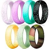 Männer Und Frauen Silikon Trauringe 7 Mixed Design Ring Sets Durable Komfortable Antibakteriell Ringe,8#