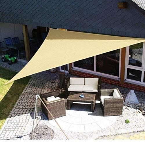 Toldo vela Vela de Sombra 3x3x3m Triángulo Shade Sails, vela con dosel impermeable para el patio al aire libre, Toldo vela de la protección solar con cuerdas para nadar Sombra de sol al aire libre Cam