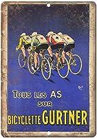 ガートナー自転車自転車ブリキの看板壁の装飾金属ポスターレトロプラーク警告サインオフィスカフェクラブバーの工芸品