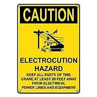 ヴィンテージ複製サインインチ、注意電気注意ハザードサイン、公園サイン公園ガイド警告サイン私有財産の金属屋外危険サイン