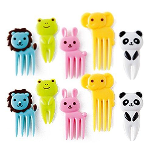 CuteZCute Bento Decoration Box, Animals Food Picks and Forks