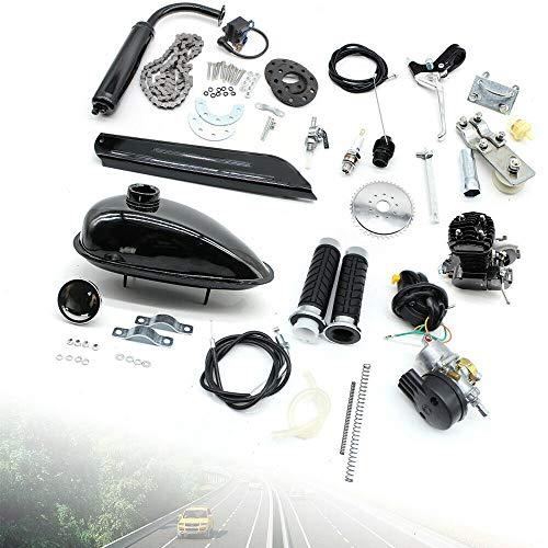DIFU 2-Takt 80CC Moteur Motorisierte Fahrräder Benzin Hilfsmotor Kit CDI Luftkühlung Elektrofahrrad-Umbau-Set, Maximale Geschwindigkeit 38KM/H, für E-Fahrrad Mountainbikes Rennräder