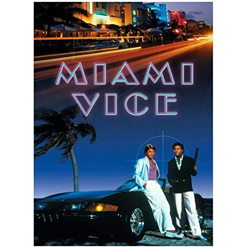 wzgsffs Miami Vice TV Show Wall Art Póster De Película E Impresiones Impresas En Lienzo para Sala De Estar Hogar Dormitorio Decorativo Café-20X28 Pulgadas X 1 Sin Marco