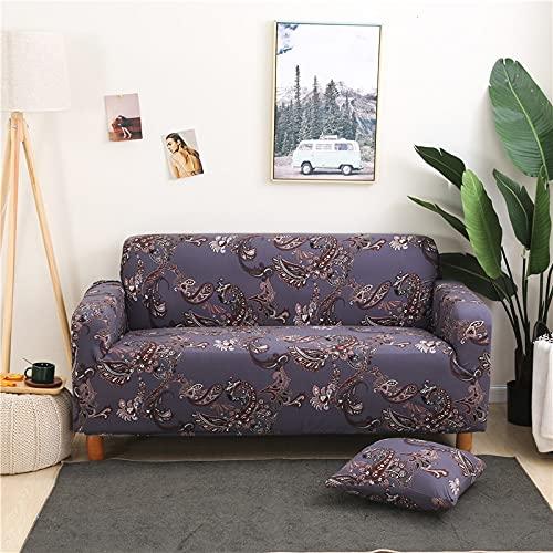 ASCV Diseño geométrico Funda de sofá Envuelta Plaid Muebles con Todo Incluido Funda de sofá Estilo L Funda de sofá de Dos plazas Protector Funda de sofá A8 2 plazas