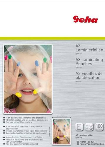 Geha Laminierfolie 125 mic 100er Pack A3