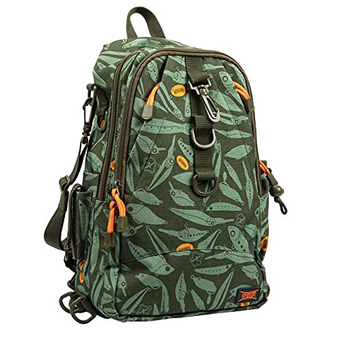KINGDOM Fishing Tackle Backpack Storage Bag, Water-Resistant Fishing Backpack with Rod Holder,...