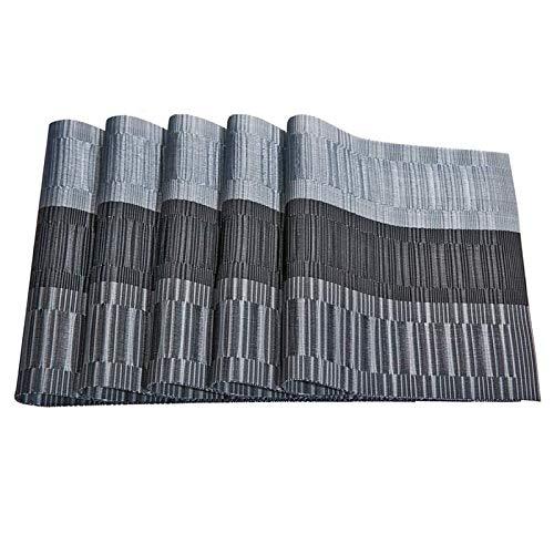 Camisin Mantel Individual de PVC, Resistente Al Calor, Lavable, para Mesa, Antifouling, Antideslizante, para Mesa, de 4 Piezas