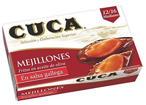 Cuca - Mejillones A La Gallega 12 16 Piezas -65 Grams- [Pack de 5]