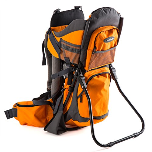 Premium Baby Backpack Carrier for Hiking with Kids – Carry Your Toddler Ergonomically (Orange/Grey)…