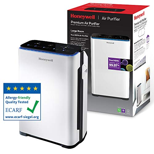 Honeywell HPA710WE Premium Air Purifier True HEPA Allergen Remover with Smart LED Air Quality Sensor, 33 W