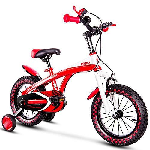 YumEIGE kinderfiets fiets kinderfiets, kinderfiets rood maat 14 16 18 met steunwiel, kinderfiets montagevriendelijk
