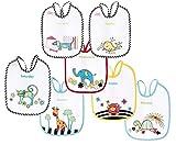 Canpol Babies Animales de Colores - Pack de 7 baberos