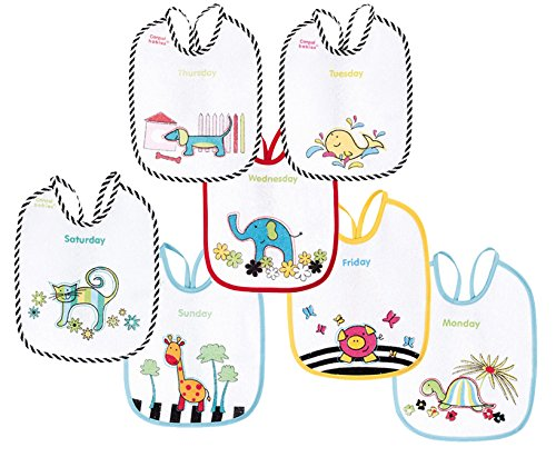 Canpol Babies Animales Colores - Pack 7 baberos