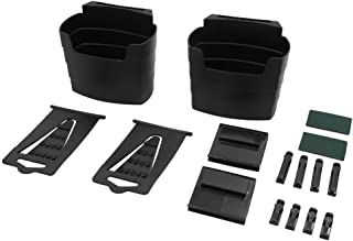 uxcell 2set Black Plastic Rectangle Multi-Purpose Car French Fry Holder Food Cup Holder
