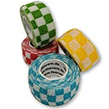 Lisa cuidado dedo suciedad grasa y repele la suciedad – -Elástico resistente al agua yeso – selección de colores – 4 rollos, 2,5 cm x 4,5 m