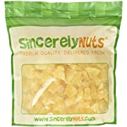 Sincerely Nuts Dried Pineapple Chunks - Three Lb. Bag - Beyond Delicious - Astounding Freshness - Bursting with Wholesome Nutrients - Kosher Certified