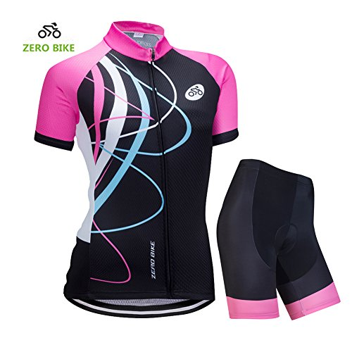 ZEROBIKE Women's Short Sleeve Cycling Jersey...