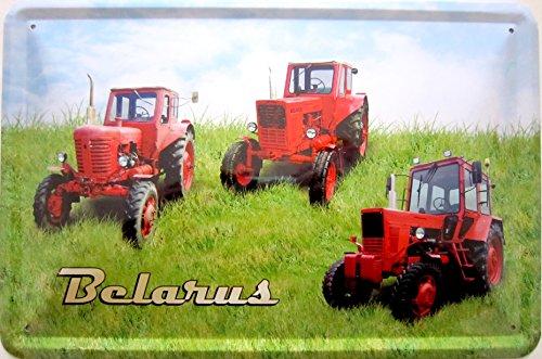 vielesguenstig-2013 Blechschild Schild 20x30cm - Belarus Traktor Landwirtschaft Landtechnik