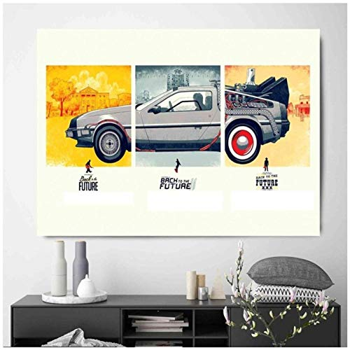 zhaoyangeng terug In de toekomst tijd shuttle canvas poster muurschildering woonkamer abstract canvas kunst foto's voor wooncultuur - 60X90cm zonder lijst