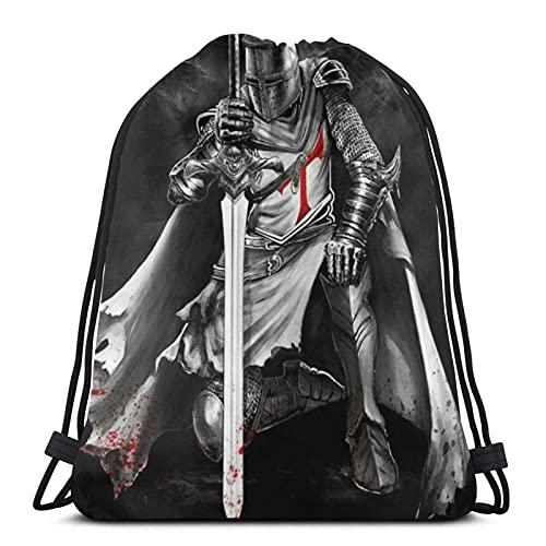 Bolsas de cordón Knights Templar1 unisex con cordón, bolsa de deporte, bolsa de cuerda grande con cordón, mochila de gimnasio a granel