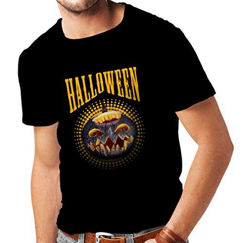 lepni.me Camisetas Hombre Calabaza de Halloween - Ideas del Traje del Partido 2017 (X-Large Negro Multicolor)