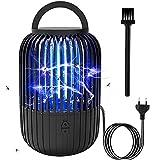 BOZHZO Lámpara Antimosquitos Eléctrico, 2 en 1 UV Mata Mosquitos Electrico, 12W 4000V Asesino de Mosquitos LED para Interior/Exterior/Dormitorio/Cocina/Jardín(80m²)