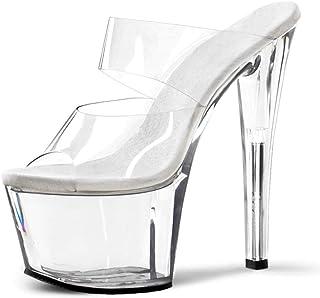 Women's Fish-Billed Sandals,Ladies Platform Super High Sandals,Summer PeepToe High Heels,Mules Sandals