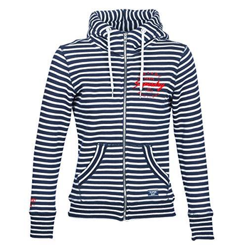 Superdry Applique Zip Hood Sweatshirts und Fleecejacken Femmes Marine - DE 32 (UK 6) - Sweatshirts