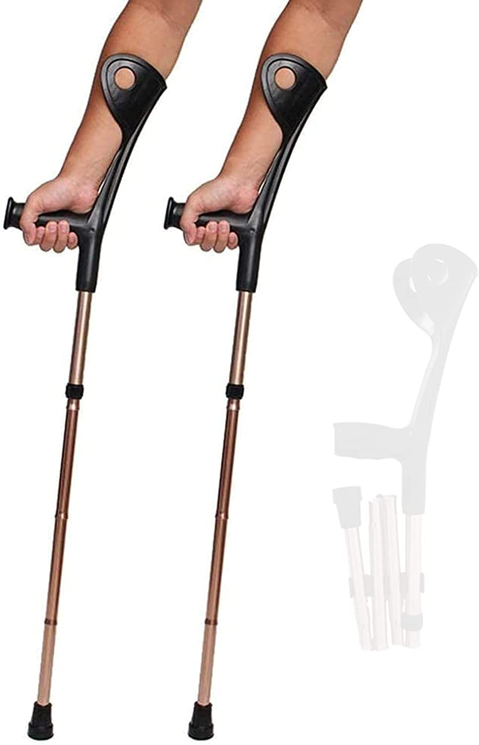 STXMY Lightweight Forearm Max 48% OFF Crutches for Adults Heavy Opening large release sale Du Foldable