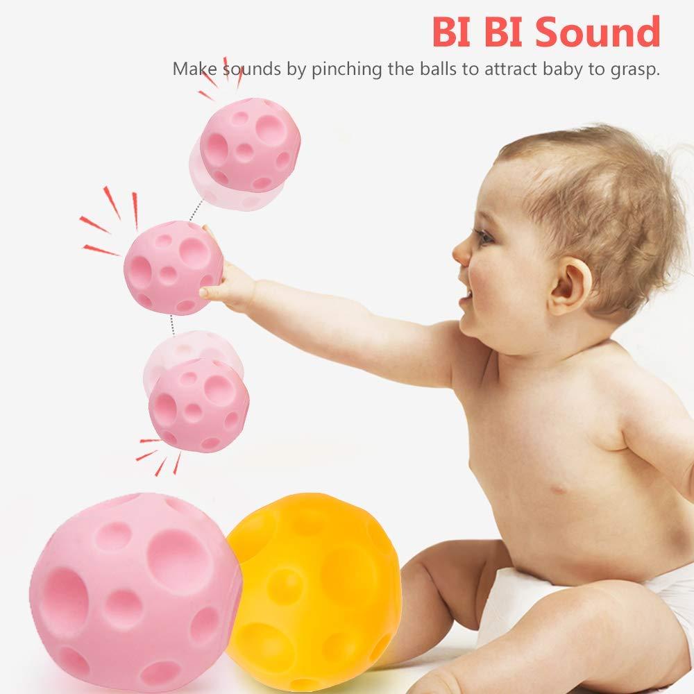 Dightyoho Bolas Sensoriales Bebé Piscina sin BPA con Sonido, 10pcs ...