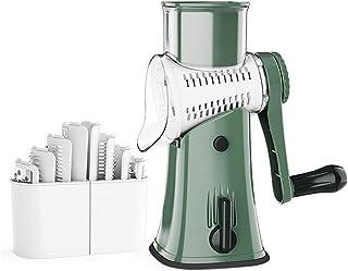 6 en 1 couteau de légumes ABS rouleau à la main Rouleau rotatif râpe à la râpe ménage cuisine en acier inoxydable slicer m...