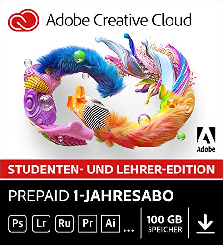 Adobe Creative Cloud All Apps | Student und Teacher | 1 Jahr | PC/Mac | Download