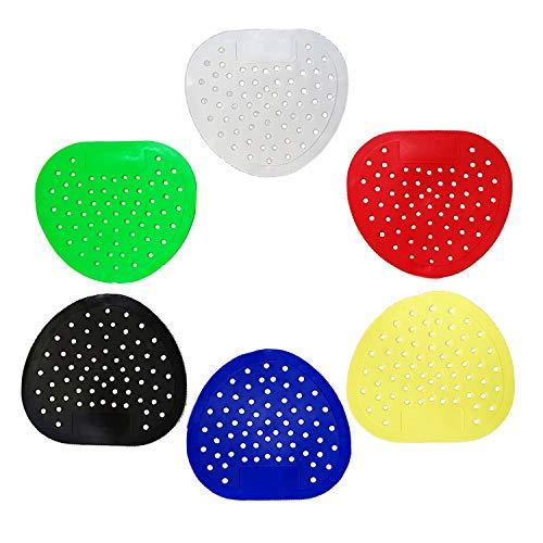 Urinalsieb Urinal-Geruchsentferner für Urinalscheiben, 6 Farben, 12 Stück