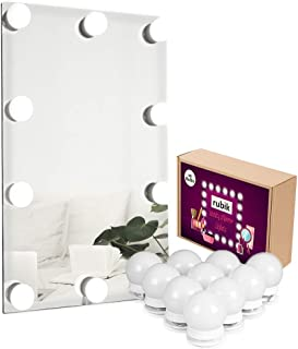 Rubik Mirror Lights, Hollywood Style LED Vanity Mirror Lights Kit with 10 Dimmable Light Bulbs, Lighting Fixture Strip for...