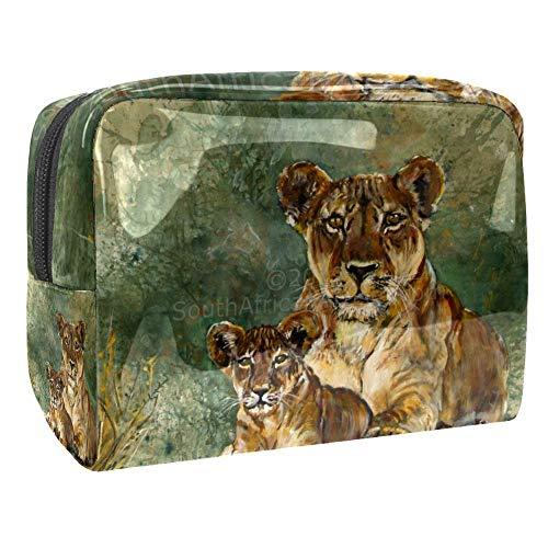 Trousse de toilette multifonction pour femme - Motif léopard