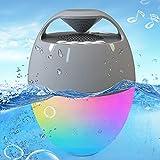 Portable Bluetooth Speaker with Colorful Lights, Blufree Floating Pool Speaker IP67 Waterproof Speaker,Louder Volume,Mic,82ft Wireless Range Hot Tub Speaker for Outdoor Pool Home Party Travel.
