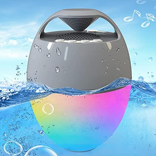 Portable Bluetooth Speaker with Colorful Lights, Blufree Floating Pool Speaker IP67 Waterproof...