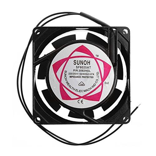 MINGSTORE SF8025AT 2082HSL 8025 80mm Cojinete de Manguito 220-240V AC Ventilador de...