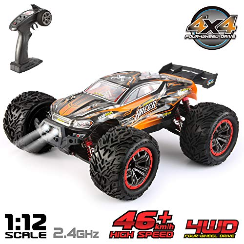 VATOS Ferngesteuertes Auto 1:12 Elektro RC Auto RTR RC Off-Road Buggy 46km/h High Speed 4WD 2,4 Ghz Wasserdicht Monstertruck Truggy für Kinder und Erwachsene, Bestes Geburtstags Geschenk