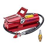 JMCUHYD Air Hydraulic Pump 10,000 PSI 10 Ton Porta Power Hydraulic Air Foot Pump Control Lift with Air Line Lubricator Hose…,Red