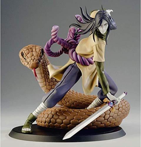 Rowa Naruto Orochimaru Anime Film Action-Figuren PVC Dekoration Statue Modell-Dekoration-Kunst-Geschenke 20CM (Size : 20CM)