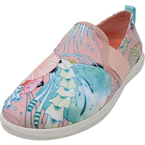 OluKai Haleiwa Pai Women's Slip On Shoes Dusty Pink/Coral - 9.5