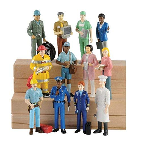 Marvel MTC-138 Education Pretend Professionals Career Doll Figures, Toy Figures for Kids, Set of 12