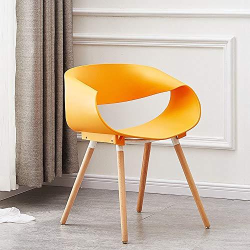 CHARON Modern Dining Sessel Mit Holzbeinen, Mid-Century Modern Küche Und Esszimmer Sessel Mit Natural Wood Beine,G