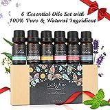 Ätherisches Öl Set, Luckyfine Reines Duftöl Set 6 X 10ml, Essential Oils Aromatherapie entspannen...