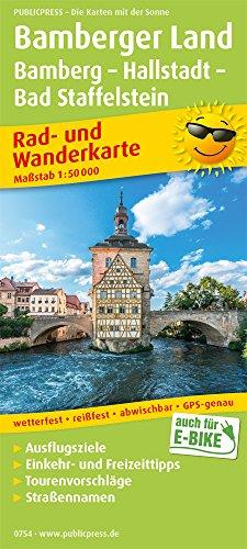 Bamberger Land, Bamberg - Hallstadtt - Bad Staffelstein: Rad- und Wanderkarte mit Ausflugszielen, Einkehr- & Freizeittipps, wetterfest, reißfest, ... 1:50000 (Rad- und Wanderkarte: RuWK)
