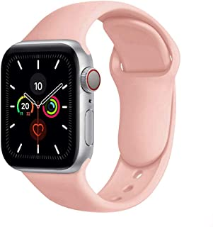 Compatible with Apple Watch Bands 38mm 40mm,Soft Silicone Fitness Replacement Accessories Straps Wristbands for iWatch Ban...