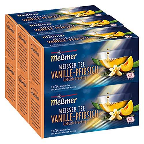Meßmer Weißer Tee Vanille-Pfirsich 6er Pack